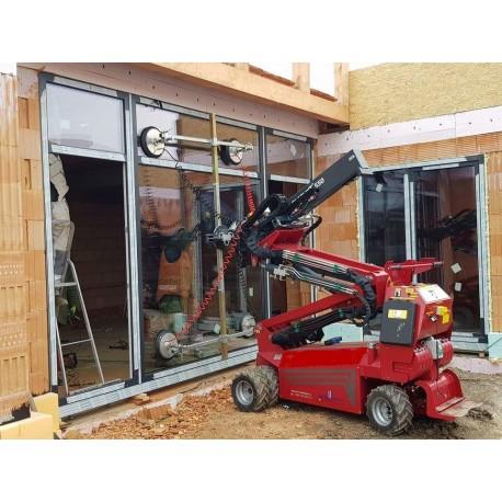 Osadenie veľkého a ťažkého okna s manipulátorom GlasLift 550