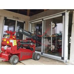 Osadenie zdvizno posuvných dverí manipulátorom Glaslift 550